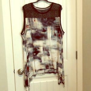 Simply Vera, Lace top, sleeveless long tunic top